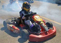 17-year-old Jessica Brannam drove her go kart at Blackhawk Farms Raceway in the Championship Enduro Series