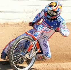 Australian ace Jason Crump smashed the track record at Belle Vue Stadium in Britain