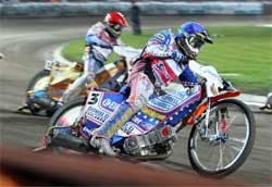 Australian Jason Crump is second overall in 2008 World Speedway Grand Prix Championship Point Standings, photo by Mike Patrick Photography