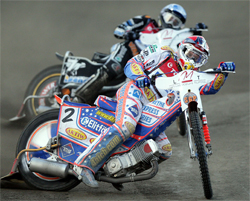Double World Speedway Grand Prix Champion Rider Jason Crump struggled at Latvia