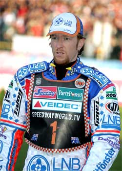 Jason Crump fourth at Slovenia, photo by Mike Patrick
