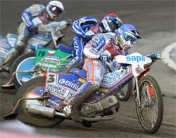 Jason Crump took third place in Prague during Czech Republic Grand Prix Race, photo by Mike Patrick Photography