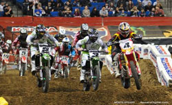 Gibson exploded with the holeshot on his Cernic's Honda in Tulsa and never looked back.