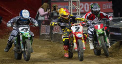 Jeff got the holeshot in the main event and led wire to wire.