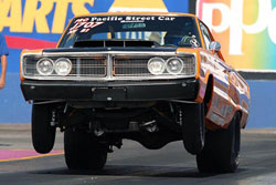 Jeff Interlicchia's 1966 Dodge Coronet puts out around 750 horsepower.