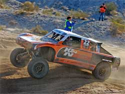 Damien Jefferies new K&N Trophy Truck has good power