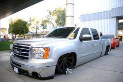 SEMA featured 2014 GMC Sierra crew cab truck built by Brian Jendro