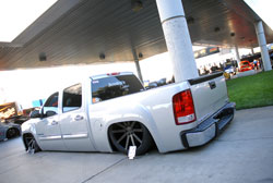 Brian Jendro's GMC Sierra was featured at the 2013 SEMA Show