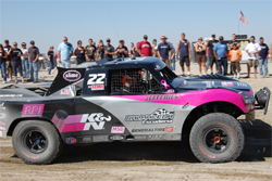 Pink K&N Filters Trophy Truck shows support of Cedars-Sinai Women's Breast Cancer Research Center