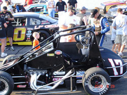 Although Jeremy Frankoski hasn't been in a midget since April, he managed to out race nearly everyone, earning a second place finish at Hickory Motor Speedway.