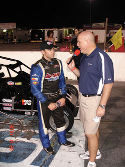 "This was Frankoski's second podium at Hickory Motor Speedway this year, the first being a win at the USAC Ford Focus ""Shootout."""