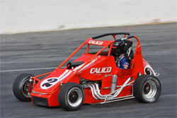 Hickory Motor Speedway in Hickory, North Carolina win in 35 lap USAC season opener for Jeremy Frankosk