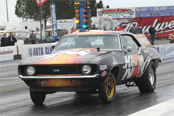 Racing his K&N Filters sponsored 1969 Chevrolet Camaro, Adams took home the exclusive title of March Meet Champion in the Hot Rod category.