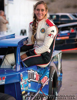 Jessica Clark followed up the Blythe race with another top-10 finish at Havasu 95 Speedway