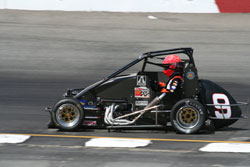 Midget Car Racer Jessica Clark on the Track