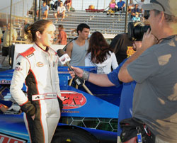 Jessica Clark said racing at different tracks is giving her a new perspective on the sport.