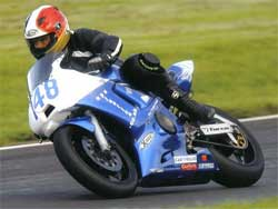 Jonathon Harrison in the Superstock Championship Finale