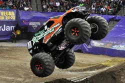 Joe Sylvester recently earned a victory at a Monster Jam Series event help at the Sleep Train Arena at Sacramento, California.