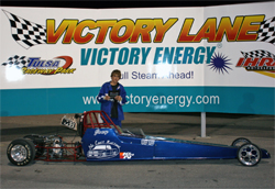Joey McCune won the Central Drag Racing Association (CDRA) Race of Champions at Tulsa Raceway Park in Oklahoma