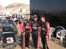 (Left to Right) The Williams racing family Cody, Rip and Austin (not pictured is Logan).