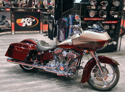 John Kuklisin's 2010 CVO Softail turned heads at the 2012 V-Twin Dealers Show, in Cincinnati, Ohio.