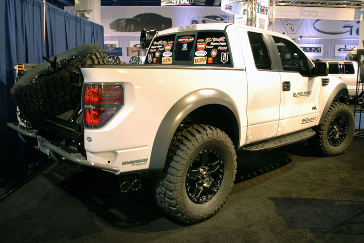 custom 2010 ford f 150 raptor built by john williams was featured at the 2011 sema show. Black Bedroom Furniture Sets. Home Design Ideas
