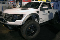 The SEMA featured 2010 Ford F-150 Raptor was equipped with Black Rock Wheels