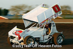 Jonathan Allard recently finished second place in a World of Outlaws event at the Thunderbowl Speedway, in Tulare, California.