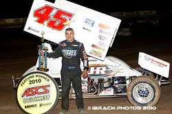 The win at USA Raceway makes it six for six in ASCS Southwest region. Photo by IBRACN Photos