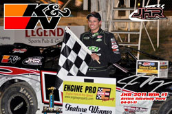 Jon Henry won the opening UMP Late Model race at Attica Raceway Park and followed it up with another victory the next weekend.