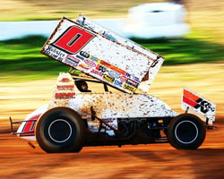 Veteran racer Jonathan Allard took one big step towards winning the King of the West Series Race title by capturing the first race at Antioch Speedway.