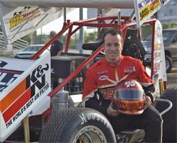 Defending King of California Jonathan Allard and his No. 0 K&N Filters sprint car