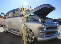 Grand National Roadster Show Trophy for 1954 Chevrolet Suburban's Truck Division Win