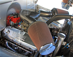K&N custom built air intake system on Steve Jones' 1954 Chevrolet Suburban