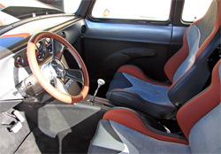 Steve Jones modeled the interior of his 1954 Suburban with racing-style bucket seats