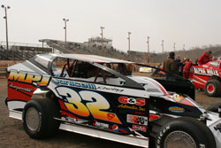 Youngest son Jared in the pits before warm-ups at Hagerstown Speedway