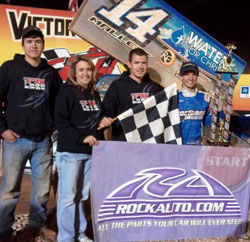 Jordon Mallet recently earned his first win in the USCS National Tour at Carolina Speedway.