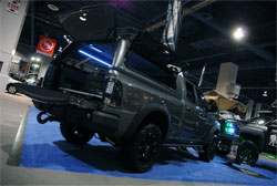 The 2013 SEMA Show included this custom Dodge Ram 1500 truck built by A.R.E. Products