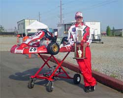 Jacob Pearlman and his HPV-4 Junior Trophy