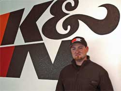 Vaughn Gittin Jr. at K&N Engineering Headquarters