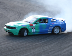 Vaughn Gittin in the Falken Tires 2010 Ford Racing Mustang GT in Monroe, Washington