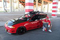 Juan E. Sierra Ortiz is proud of his 1992 Honda Civic 3 Door Hatchback and K&N air intake system.