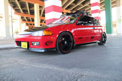 Very clean customized Honda Civic with JDM H23a VTEC engine