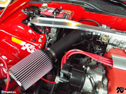 This 1992 Honda Civic is equipped with K&N air intake 63-1017