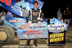 Justin Henderson's PA Speedweek victory at Port Royal Speedway