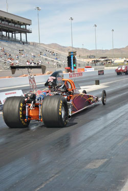 Justin Lamb seared the track with a run of 7.745 seconds at 162.45 mph in his Chevy-powered dragster
