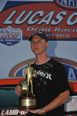 Justin Lamb Scores First NHRA National Super Stock Victory in Las Vegas