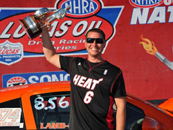 Justin Lamb Claims NHRA Super Stock Wally at 2012 Sonoma Nationals