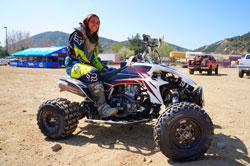 Kaeli first became interested in quads when one of the friends had a 90 that she road on occasions.