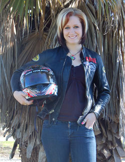 Kalifornia Katie says it gives her chills to think that K&N is supporting her and helping her to be the very best Pro Stock motorcycle drag racer she can possibly become.